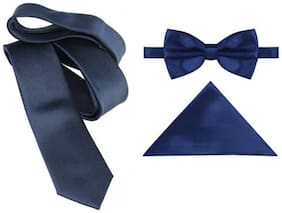 JARS Collections Satin Pocket Square - Navy Blue