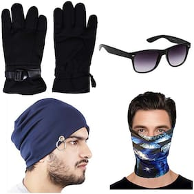 JARS Collections Winter Gloves with Sunglass;Cap and Bandana Free