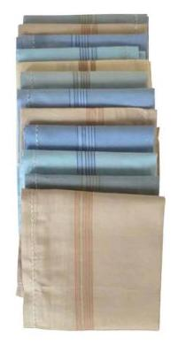 Jars Collections Multi color Cotton Handkerchief (Pack of 12)