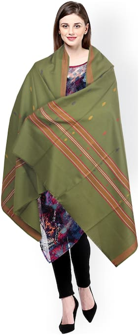 JARS Collections Women Wool Shawl - Green
