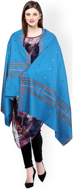 JARS Collections Women Wool Shawl - Blue
