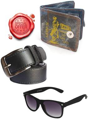 JARS Collections Gift Combo of Belt;Wallet and Wayfarer Sunglass