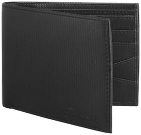 JAXER Men Black Leather Bi-Fold Wallet ( Pack of 1 )
