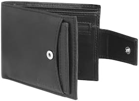 Jaxer Black Genuine Leather Wallet For Men & Boys - JMW716