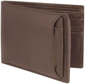 Jaxer Brown Genuine Leather Wallet For Men & Boys - JMW717