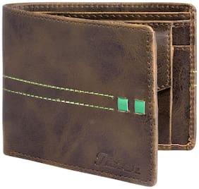 JAINX Men Brown Leather Bi-Fold Wallet ( Pack of 1 )