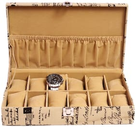 Jhola Basta Distress Finish Canvas Watch Box For 12 Watches