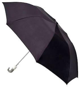 Jim-Dandy Men Polyester Grey Umbrella ( Regular , Pack of 1 )
