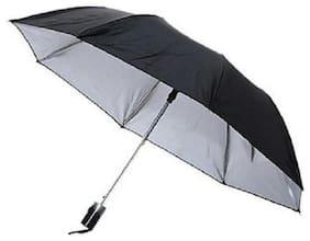 Jim-Dandy Men Polyester Black Umbrella ( Regular , Pack of 1 )