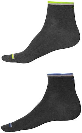 Jockey Yellow Cotton Crew length socks ( Pack of 2 )