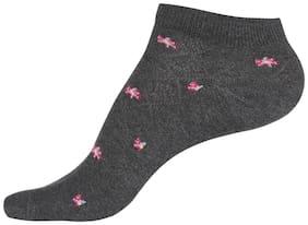 Jockey Charcoal Melange Low Show Socks : Style Number - 7481