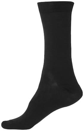 Jockey Black Cotton Calf length socks ( Pack of 1 )