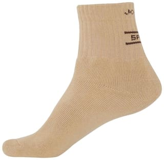 Jockey Beige Cotton Ankle length socks ( Pack of 1 )