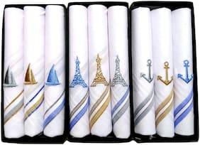 Johnnie Boy 100 % pure cotton premium embroiderd handkercheif for men & boys