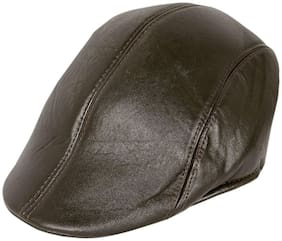 Jubination Boy's Brown Leather Golf Cap