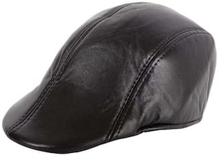 Buy Jubination Boy s Black Leather Golf Cap Online at Low Prices in ... a0a895b4a12