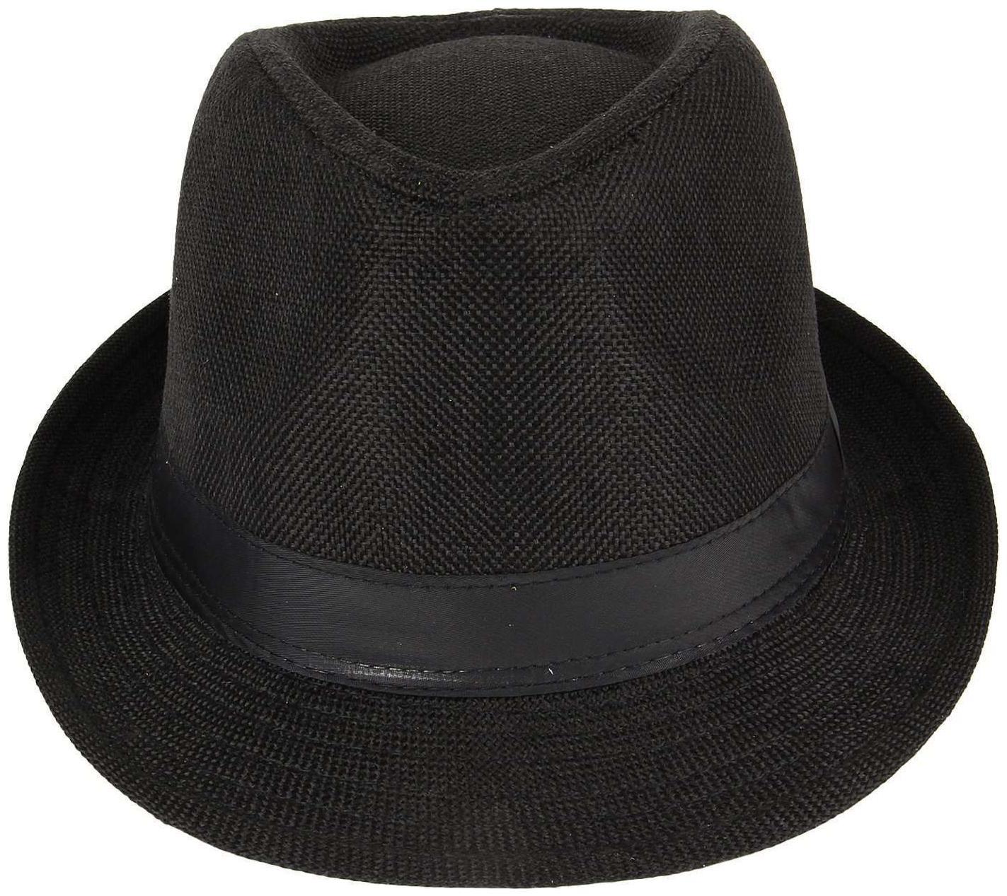 Jubination Boy's Black Cotton Fedora Hat