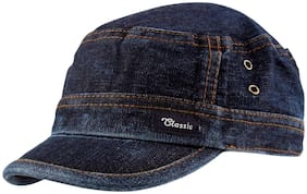 Jubination Boy's Blue Denim Cotton Cap