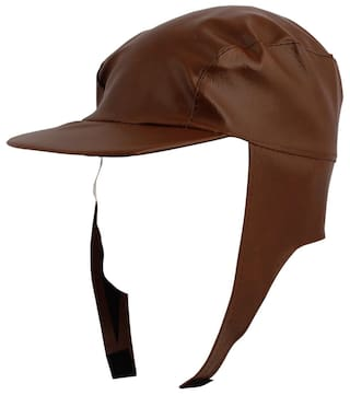 Buy Kaarq Trendy Rexin Brown Waterproof Rain Cap for Men Women ... d53289a9bd0