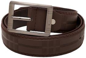 Kalewensen Dark Brown Belt with Round Buckle