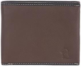Kara Men Brown Leather Bi-Fold Wallet ( Pack of 1 )