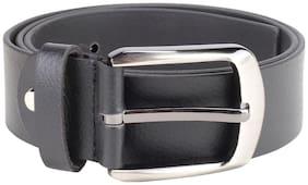 Kara Men'S Black Leather Belt