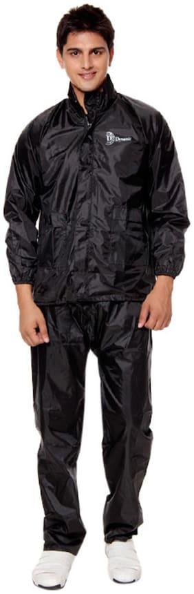 KeepSake Black Color Polyester Raincoat (Size-XL)