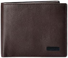 Kenneth Cole Men Brown Leather Bi-Fold Wallet ( Pack of 1 )