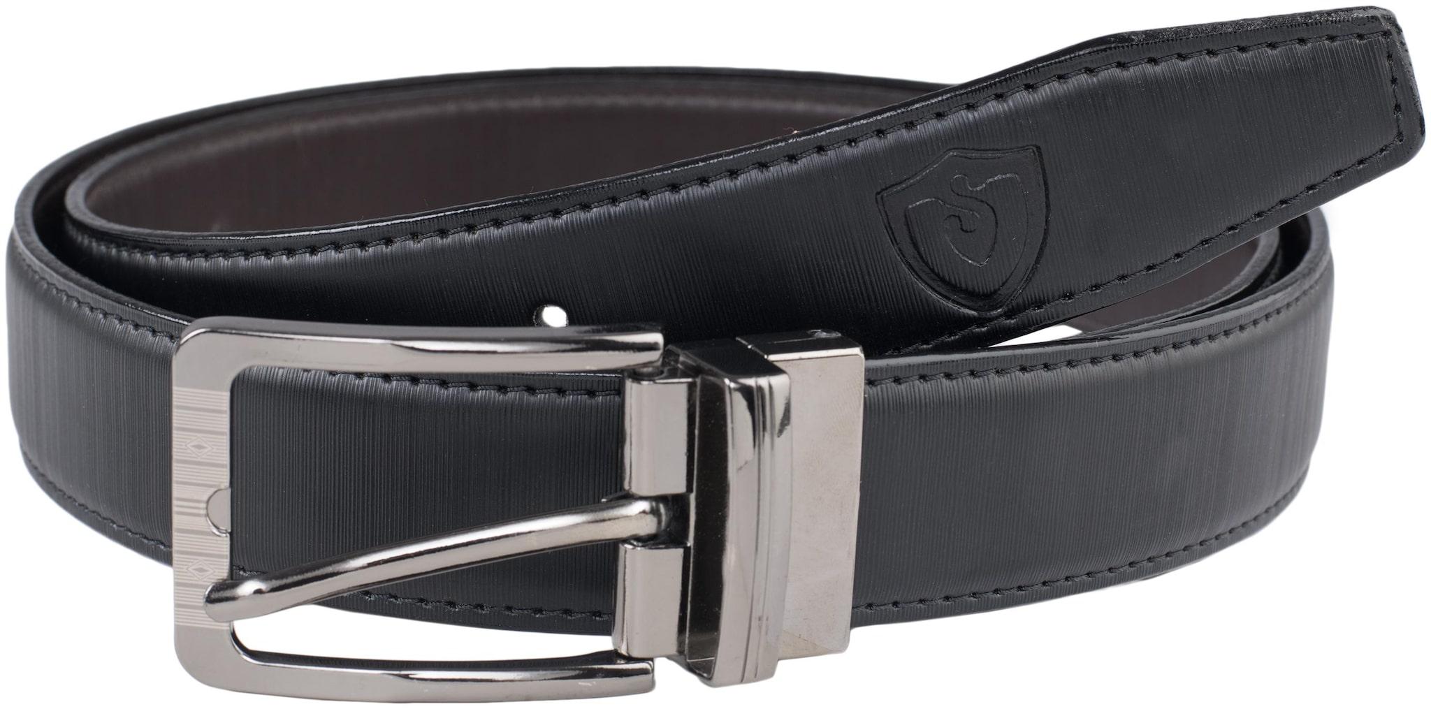 Keviv Men's PU Leather Formal, Casual Reversible Belts For Men