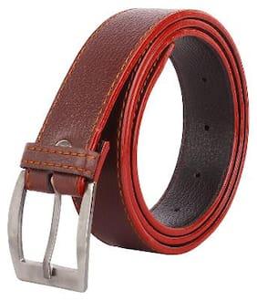 KEZRO Men Tan Leather Belt (Size: 38 , Pack of 1 )