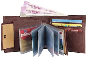 KEZRO Men Brown Pu Bi-Fold Wallet ( Pack of 1 )