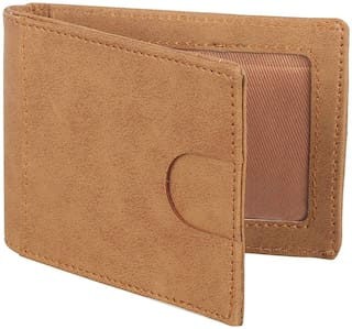 KEZRO Men's Money Clipper & Card Holder (Tan)