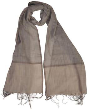 KHADDER Women Cotton Scarves - Brown