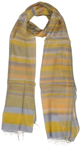 KHADDER Women Cotton Scarves - Yellow