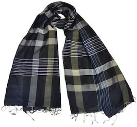 KHADDER Women Cotton Scarves - Black
