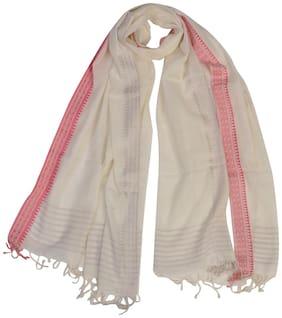 KHADDER Women Cotton Scarves - Red