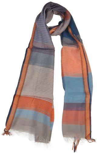 KHADDER Women Cotton Scarves - Blue