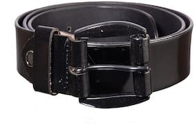 Khadim Men Black Leather Belt (Size: 42 , Pack of 1 )