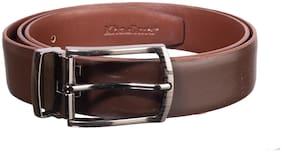Khadim Men Brown Leather Belt (Size: 36 , Pack of 1 )