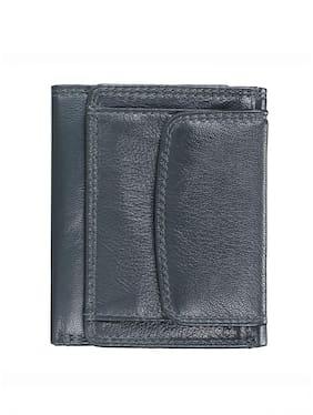 Men Synthetic Leather Bi-Fold Wallet ( Green )