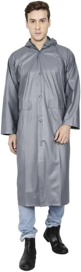 Kihome Men Long Raincoat - Grey