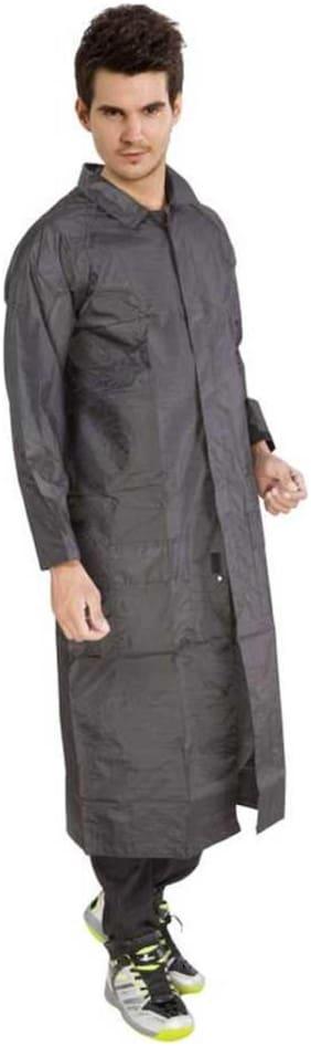 Kihome Men Long Raincoat - Grey