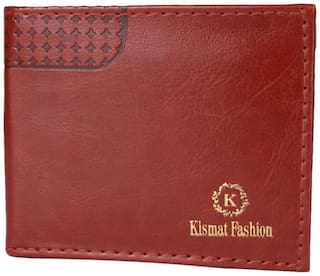 Kismat Fashion Men Brown Synthetic leather Bi-Fold Wallet ( Pack of 1 )
