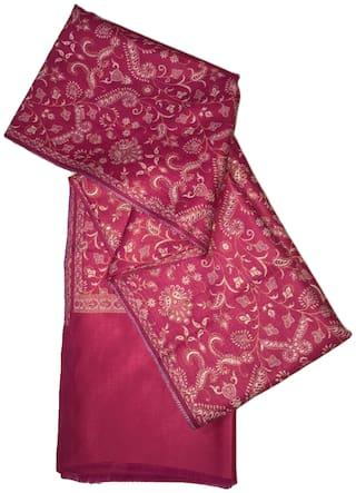Kkrish Jamawar Shawl  For Women_JMPink