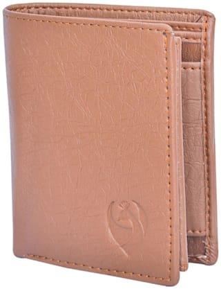 KKRISH Men Brown PU Bi-Fold Wallet