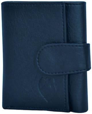 KKRISH Men Black PU Tri Fold Wallet