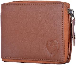 KKRISH Men Brown Pu Bi-Fold Wallet ( Pack of 1 )