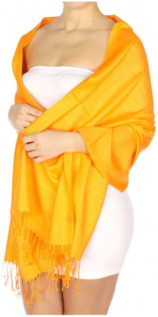 KKRISH Women Viscose Stoles - Yellow