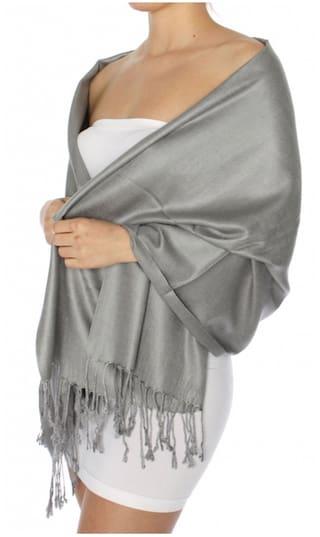 KKRISH Women Viscose Stoles - Grey