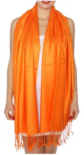 KKRISH Women Viscose Stoles - Orange